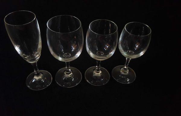 Bicchieri in vetro mod. Preludio