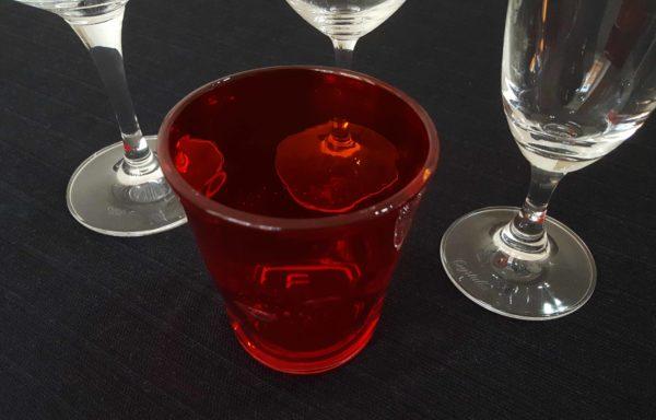 Bicchiere tumbler basso rosso
