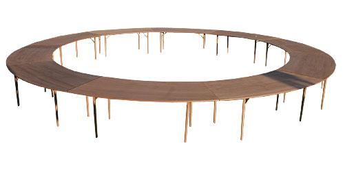 Tavolo a sezioni circolare