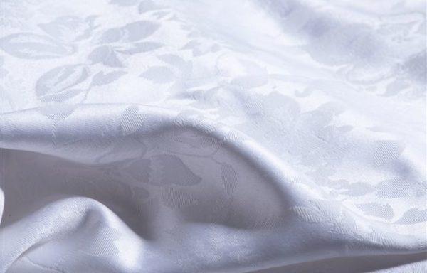 Tovaglia colore bianco damascato