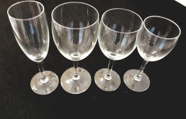 Bicchieri in cristallo mod. Eleganza